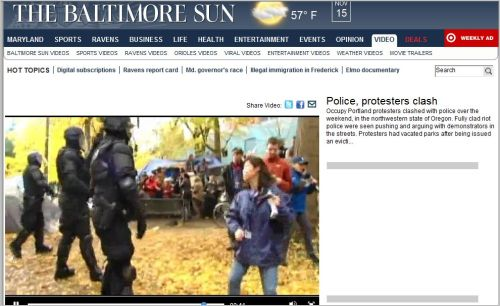Police- protesters clash from The Baltimore Sun