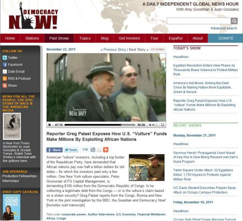"Reporter Greg Palast Exposes How U.S. ""Vulture"" Funds Make Millions By Exploiting African Nations"