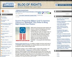 Senators Demand the Military Lock Up American Citizens in a 'Battlefield' They Define as Being Right Outside Your Window