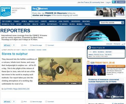 Slaves to sulphur_Kawa Ijen in Java_from France24 International