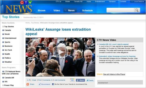WikiLeaks' Assange loses extradition appeal