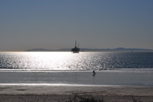 Winter Solstice at Huntington Beach (Catalina Island at horizon)