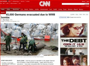 45,000 Germans evacuated due to WWII bombs