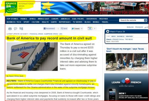 Bank of America to pay record amount in civil suit - from France 24 International