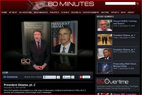 CBS - 60 Minutes December 21 2011 _ President Obama - pt. 2