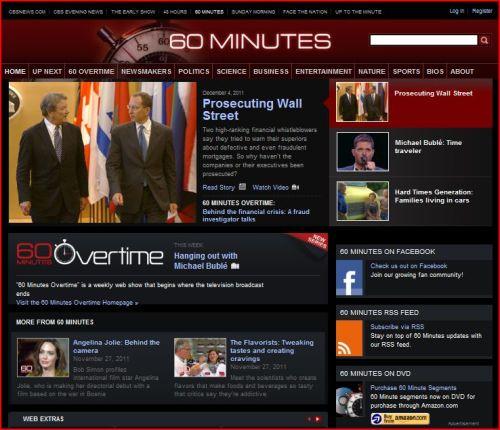 CBS - 60 Minutes 'December 4, 2011 Prosecuting Wall Street'