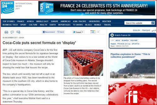 Coca-Cola puts secret formula on 'display' from France 24 International