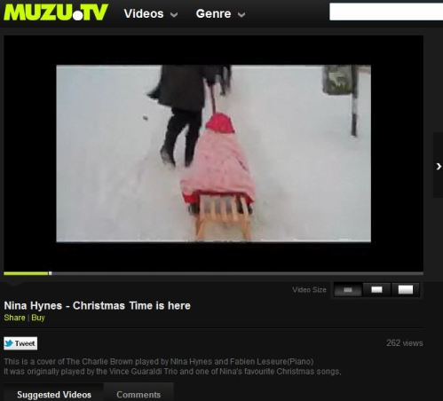 Nina Hynes - Christmas Time is here (from MUZU.TV)