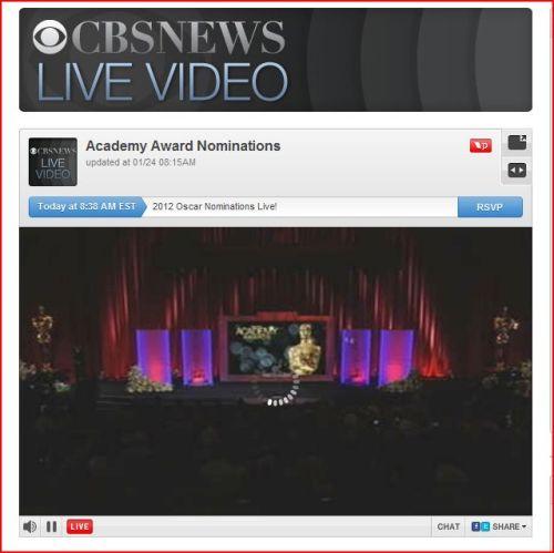 Academy Award Nominations (CBS NEWS-Live Videos)