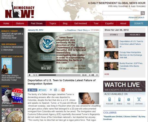 Democracy Now _ Headlines January 6 2012