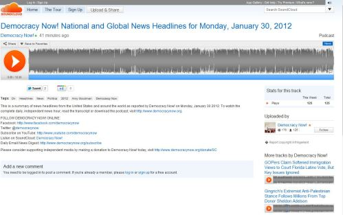 Democracy Now! National and Global News Headlines for Monday, January 30, 2012