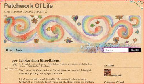 Hetterbell's Lebkuchen Shortbread @ Patchwork Of Life