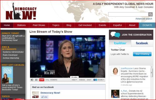 Live Stream of Today's Show _ Democracy Now -January 19 2012