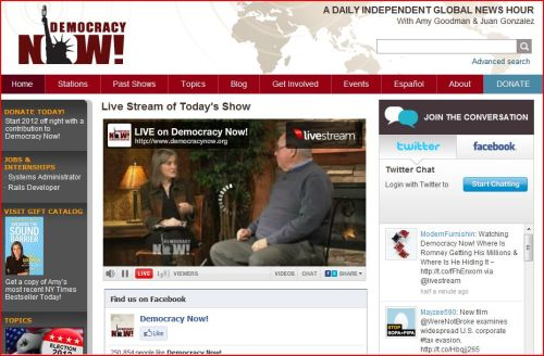 Live Stream of Today's Show (from Democracy Now)
