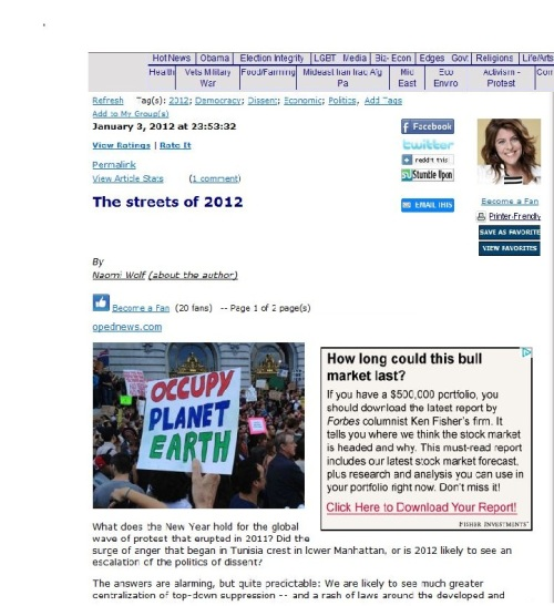 Naomi Wolf - 'The streets of 2012'