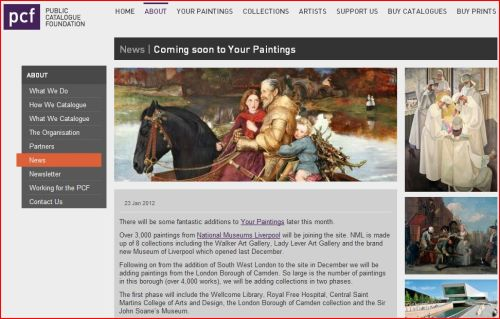 News _ Coming soon to Your Paintings _Public Catalogue Foundation