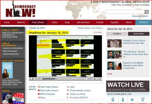 Websites Stage Historic Strike Against Anti-Piracy Laws (Democracy Now)