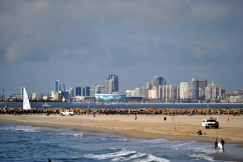 From Seal Beach Pier: Long Beach Downtown, Ocean Blvd, Aquarium of the Pacific (my scenic photography collection)