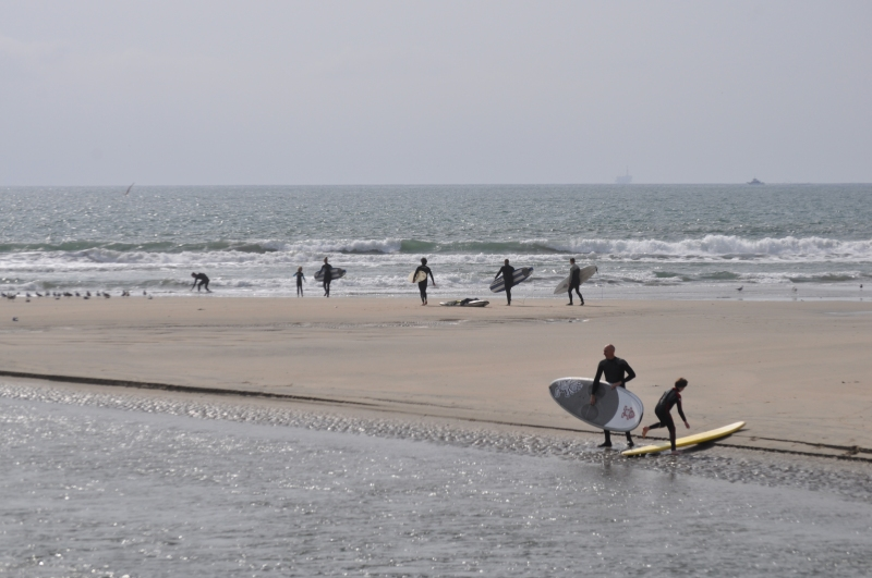 Santa Ana River Mouth: Another surfing fun day