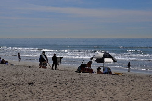 Beach Fun At Santa Ana River Mouth in Huntington Beach, January 29 2012 (my oil paintings photography)