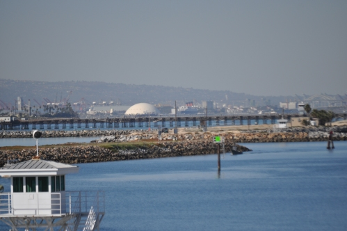 Queen Mary, Sproose Goose, Long Beach and San Pedro Ports/ Palos Verdes Peninsula From Pacific Coast Hwy Naval December 2011 024