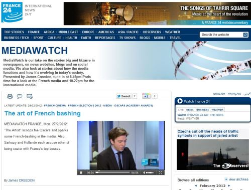 The art of French bashing (from France 24 International)