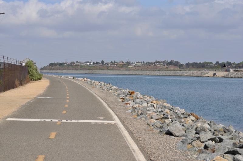 Santa Ana River Bike Road (at the Ocean)