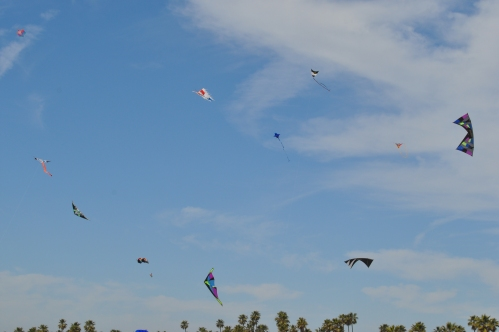 Kite Party (not Festival) at Surf City USA, Huntington Beach (my photographic Memoirs)