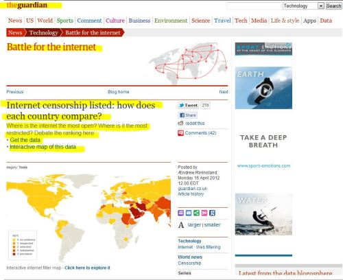 Internet censorship listed: how does each country compare?