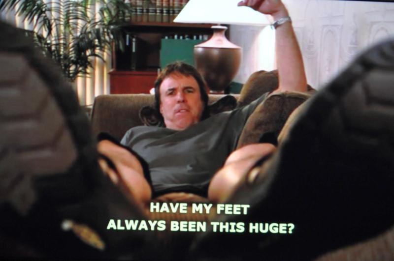"Weeds: Doug Wilson (Kevin Nealon) - ""Have my feet always been this big?"" :)"