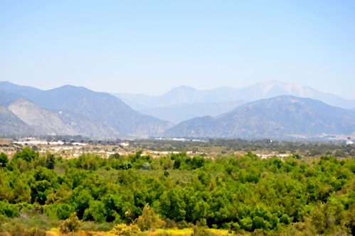 Landscape with San Gabriel River and Mountains in May(my digital oil paintings)