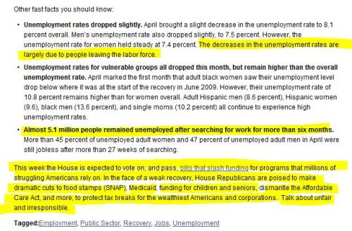 April Jobs Data Show Slower Recovery as Congress Considers Cuts (from National Women's Law Center)