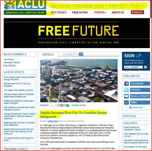 Seattle Becomes First City To Consider Drone Safeguards: From ACLU (Click to access report)
