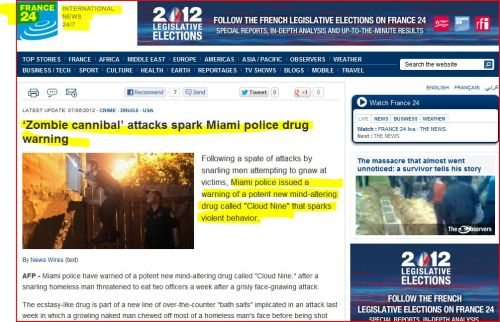 cannibal' attacks spark Miami police drug warning (from France 24 International News)