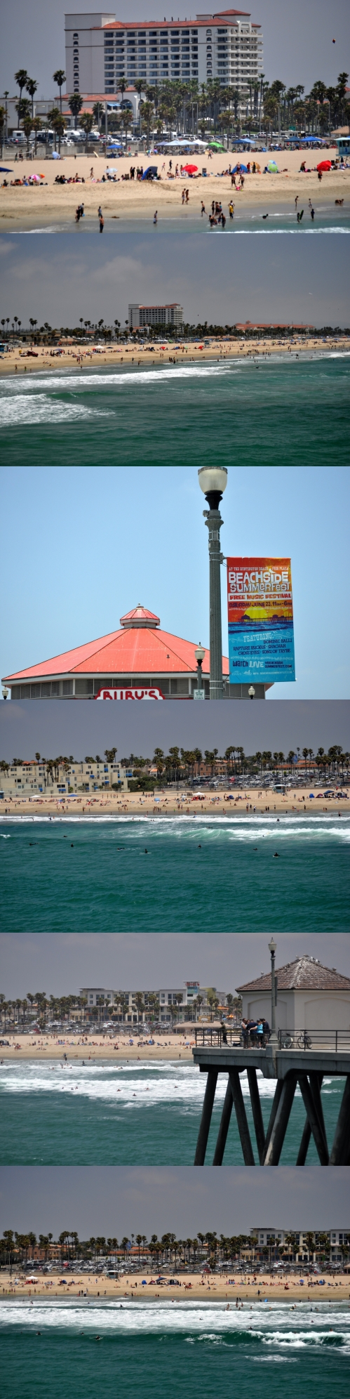 Father's Day: Huntington Beach - waterfront - pier - landcape -  June 17, 2012