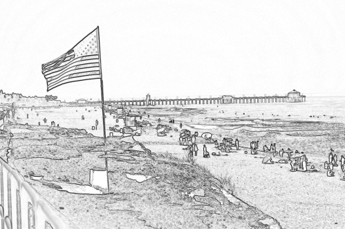 Huntington Beach, California (My sketches)