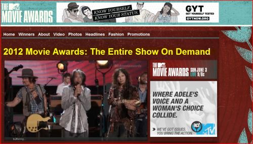 2012 Movie Awards - The Entire Show On Demand (MTV): Johnny Depp