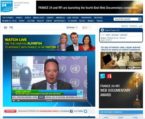 Breaking News - France 24 International (July 9, 2012)