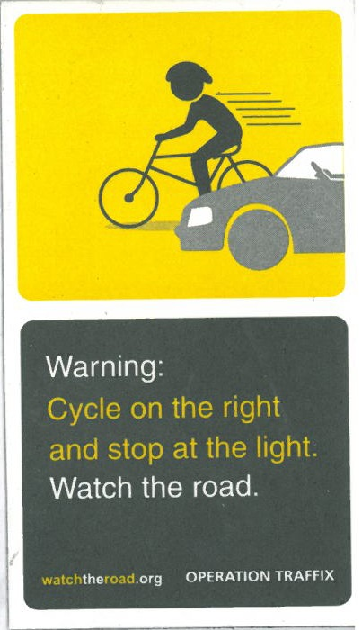 Cycle on the right!