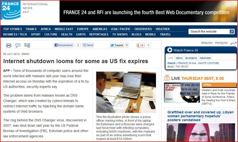Internet shutdown looms for some as US fix expires (from France 24 International)