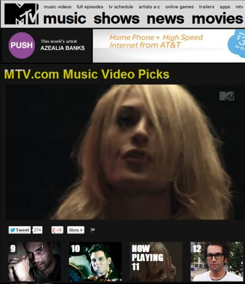 Metric - Youth Without Youth (from MTV)