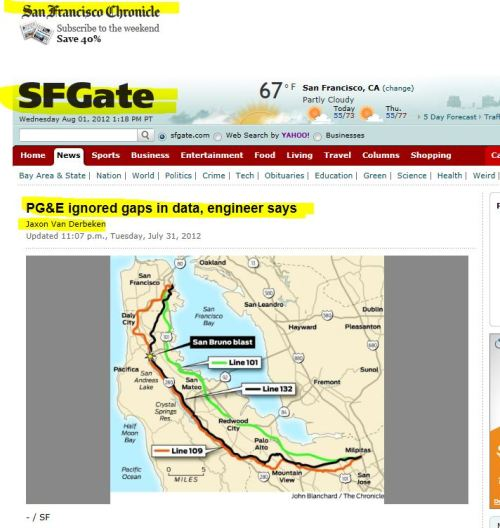 PG&E ignored gaps in data, engineer says (from SFGate)