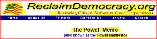 Reclaim Democracy - The Powell Memo