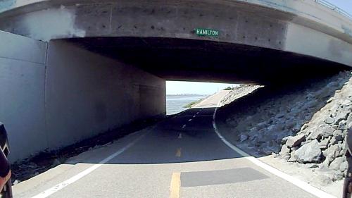 Santa Ana Bike trail @ Hamilton St. underpass