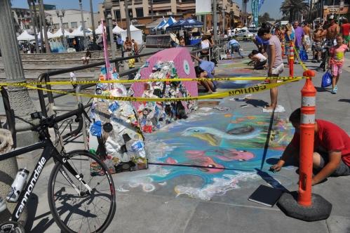 Sidewalk Art - Huntington Beach Pier