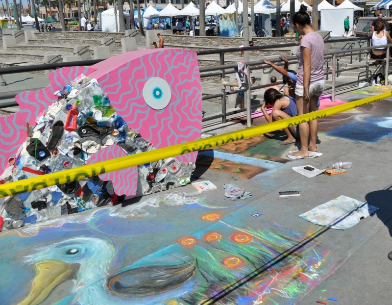 Sidewalk Calk Art- Huntington Beach Pier