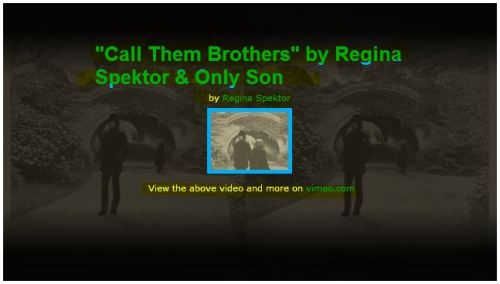 Call them Brothers - Regina Spektor