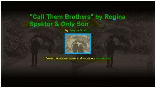 Call them Brothers - Regina Spektor