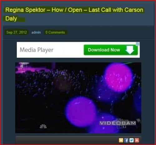 Regina Spektor - How / Open - Last Call with Carson Daly