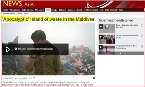 'Apocalyptic' island of waste in the Maldives (from BBC)